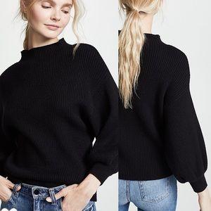 Line + Dot Alder Balloon Sleeve Sweater Large